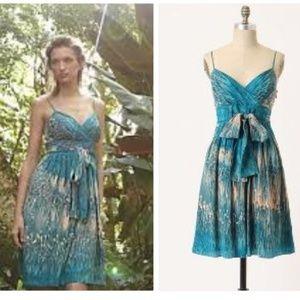 Anthropologie Lil Silk Caballo Falls Sash Dress 4